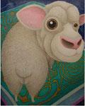 「干支物語-未-」 キャンバス、アクリル絵具、162cm×130cm、2008年