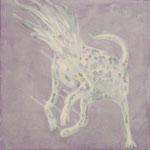 「misty」アクリル絵具 パネル 綿布 36×36cm 2014年