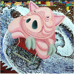「時の物語」 キャンバス、アクリル絵具、162cm×162cm、2002年