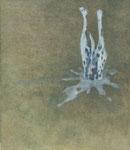 「roaming」パネル、綿布、アクリル絵具、約20×20cm、2012年、個人蔵