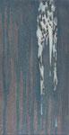 「roaming」パネル、綿布、アクリル絵具、24×13cm、2012年