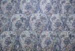 「クウキノマク」パネル、綿布、アクリル絵具、194×130cm、2012年
