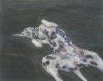 「roaming」パネル、綿布、アクリル絵具、73×91cm、2012年、第7回タグボートアワード 審査員特別賞小山登美夫賞