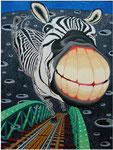 「夢の散歩道」 キャンバス、アクリル絵具、146cm×112cm、2002年、第58回 福岡県美術展覧会  毎日新聞社賞
