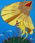 「King of Star」 キャンバス、焼石膏下地、兎膠、顔料、65cm×53cm、2003年