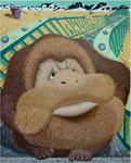 「時過ぎて」 キャンバス、アクリル絵具、砂、194cm×162cm、2003年、第12回 青木繁記念大賞公募展 入選