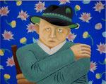 「Man」 キャンバス、アクリル絵具、73cm×91cm、2002年