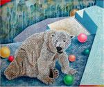 「ロンリーⅠ」 キャンバス、アクリル絵具、61cm×73cm、2001年