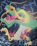 「干支物語ー辰ー」 キャンバス、アクリル絵具、162cm×130cm、2011年