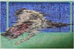 「tideⅡ」 パネル、麻紙、アクリル絵具、水性アルキド樹脂絵具、油絵具、60cm×91cm、2009年