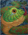 「干支物語-巳-」 キャンバス、アクリル絵具、162cm×130cm、2007年