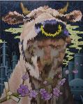 「干支物語-丑-」 キャンバス、アクリル絵具、162cm×130cm、2006年