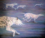 「silent escape」アクリル絵具 キャンバス 162×194cm 2015年