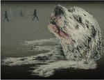 「はぁ~」 パネル、アクリル絵具、112cm×146cm、2008年