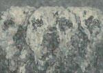 「ふたしかな日々」 パネル、綿布、アクリル絵具、24cm×33cm、2011年