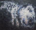 「Sunny Day」 パネル、綿布、アクリル絵具、162cm×194cm、2010年