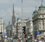 Kärntnerstraße mit Blick auf den Stephansdom