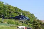 Bell 206 Jet Ranger, HB-XXO, Rundflugtage Mettau, Expo Duo, Approach