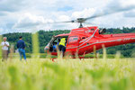 Elite Flights, AS 350 B2 Ecureuil, HB-ZPF, Rundflugtag Gewerbeausstellung UNDOB 2019, Obersiggenthal, please fasten your seatbelts