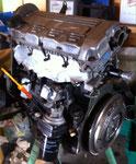Der neu revidierte Motor kurz vor dem Einbau