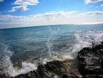Stürmische Brandung am Ionischen Meer