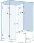 Glastrennwände, WC - Trennwand, Trennwände, WC - Kabinen, Dusch - Trennwände, Duschtrennwände, Schamtrennwände, Urinaltrennwände, Wertschließfächer, Regale, Glassysteme, Glas, Glastüren, GSK Worm GmbH