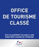 Classement des Offices de Tourisme