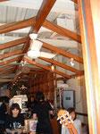 カフェの天井