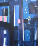 verspringende schitteringen - acryl op doek, 100 x 120