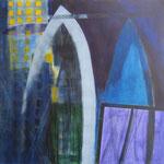overbruggen - acryl op doek, 100 x 120