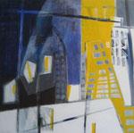 overbruggen - acryl op doek, 100 x 100