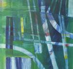 grenzeloos - acryl op doek, 50 x 50