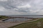 Stadthafen Grössräschen am 28. Juni 2018 nach der vollständigen Flutung, Flutungsbeginn 15. März 2007