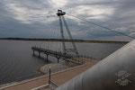 Seebrücke am 28. Juni 2018 nach vollständiger Flutung des Grossräschener Sees