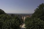 Blick über die Stadt vom Jardin de la Grande Côte