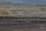 Oberste Sand- und Kiesschichten, abgebaut durch den Schaufelradbagger SRs 6300-1519