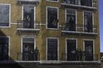 La fresques des Lyonnais mit André-Marie Ampère, Laurent Morguet (Guignol), Antoine de St-Exupéry (la Petite Prince), Edourd Herriot und Toni Garnier, Auguste et Louis Lumière (v. oben links n. unten rechts)