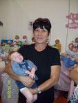 Roberta con il piccolo Roberto