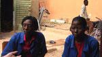 Nadège Yaméogo und Emiline Kassenga...