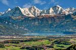 Eiger,Mönch und Jungfrau mit Thunersee