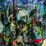Transformation Wald III, Größe 70 x 70 cm, Chrashgrafik