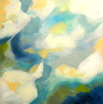 "Frühlingsmorgen   80 x 80 cm   Acryl auf Leinwand    Aus der Serie ""Listen to my painting"""