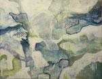 """Berührungen - Neues Leben entsteht  2-teilig   80 x 130 cm  Acryl auf Leinwand   Aus der Serie """"Listen to my painting"""""""