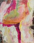"""Eingehüllt in Sympathie...   50 x 40 cm  Acryl auf Leinwand    Aus der Serie """"Listen to my painting"""""""