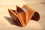 kleiner Geldbeutel aus pflanzlich gegerbtem Leder, mit Münzfach, plastikfrei, nachhaltig, in Deutschland mit Liebe handgefertigt