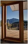 Terrasse: Zugang direkt von Wohnküche/Stube