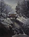 09 奥山義雄 雪の神橋 F30