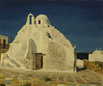 江口隆  ミコノスの教会(ギリシャ)  F8