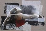 Déméter 54 x81 tempéra sur monotypes marrouflés sur toile brute