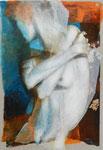 Serena I  55 x 38 tempéra sur monotypes marrouflés sur toile